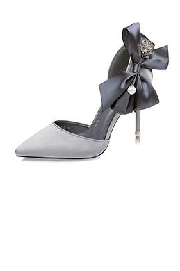 Women's Elegant Velvet Closed Toe High Heel Pumps Shoes (0919027)
