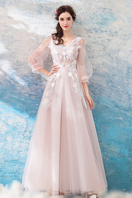 eDressit Sexy Fairy Sleeves Long Tulle Party Evening Dress (36195701)