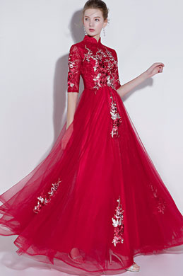 eDressit High Neck Red Lace Evening Dress Formal Wear (36217602)