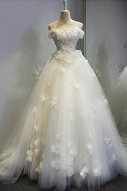 eDressit Robe de Mariée Épaules Dénudées Tulle et Dentelles (36198807)