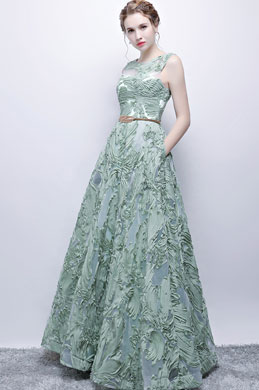 eDressit Gorgeous Sleeveless Embroidery Tulle Long Party  Dress (36218504)