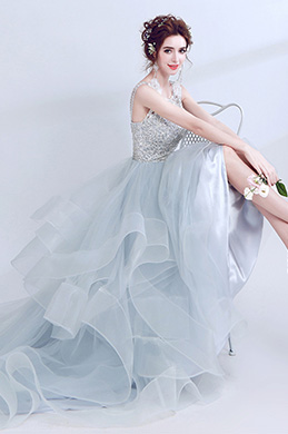 eDressit Light Blue Beaded Layer  Tulle Women Wedding Dress (36190232)