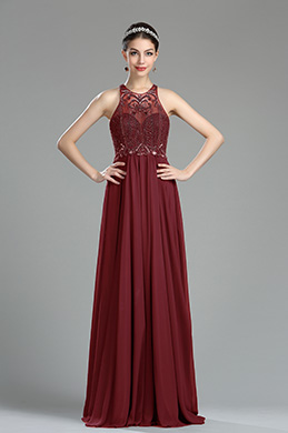 eDressit Burgundy Beaded Sequin Evening Dressing Gown (36181117)