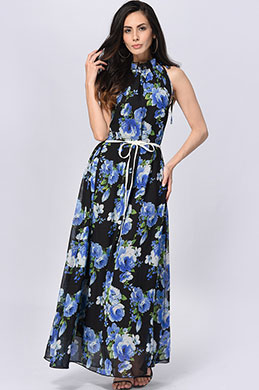 eDressit Classic Sleeveless Chiffon Prined Holiday Dress (36191768)