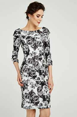 eDressit Half Sleeves Print Mother of the Bride Dress (26191168)
