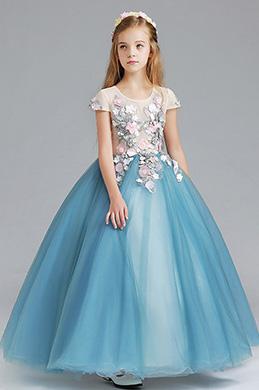 eDressit Princess Blue Children Wedding Flower Girl Dress (27198605)