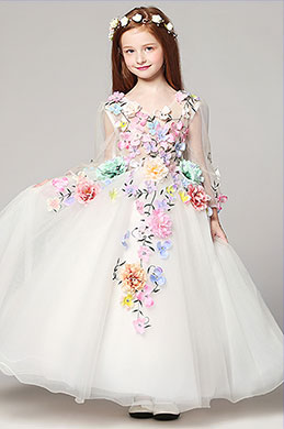 eDressit Floral Long Wedding Flower Girl Dress (27190268)