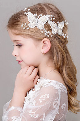 eDressit Floral Butterfly Beads Little Girl Headwear Hair Hoop (13191744)