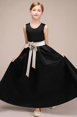 eDressit Robe de Fille Longue Noire Sans Manches (27192900)
