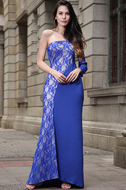 eDressit One Shoulder Lace Evening Dress Prom Dress (36191868)