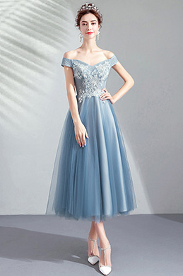 eDressit  Sexy Off shoulder Grey Tulle Party Ball Dress (35195832)