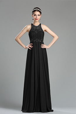 eDressit Black Beaded Sequin Evening Dressing Gown (36181100)