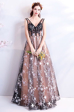 eDressit Sexy V-Cut Sleeveless Evening Prom Ball Gown (36201146)