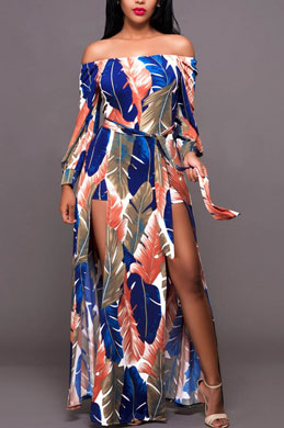 eDressit Off Shoulder Printed Dress Summer Dress (36213905)