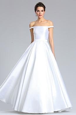 eDressit Off Shoulder White Wedding Puffy Formal Dress (02182907)