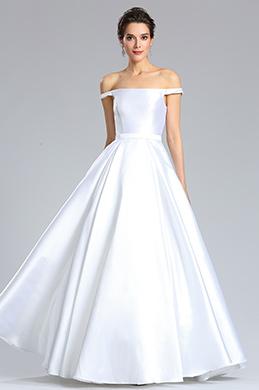 eDressit Robe de Mariée à Épaule Découverte Blanche (02182907)