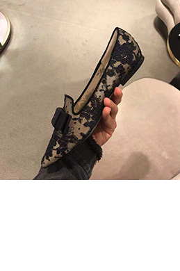 Women Sexy Lace Toe Closed Flat Shoes (0919108)
