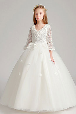 eDressit White Princess Flower Girl Dress (27190807)