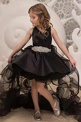 eDressit Black Cute Halter Sleeveless Wedding Flower Girl Dress (27195800)
