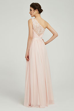 eDressit Elegant One Shoulder Pink Party Bridesmaid Dress (00191101)