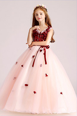 eDressit Red/White Children Wedding Flower Girl Dress (27190402)