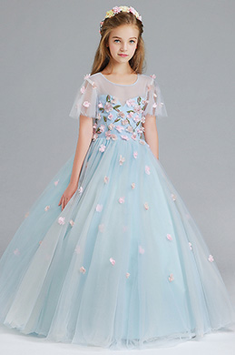 39b29a0cac eDressit Light Blue Handmade Wedding Flower Girl Party Dress (27197605)