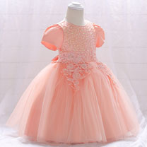 eDressit Lovely Lace Applique Baby Dress (2319044)