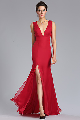 eDressit Red Sexy A-Line Bridesmaid Dress Evening Gown (00183002)