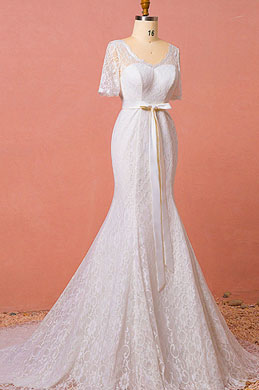 eDressit Lace Mermaid Wedding Dress Plus Size Dress (31193207)
