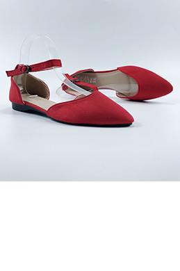 eDressit Women Suede Buckle Pointed Flat Shoes (0919059)