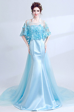 eDressit Blue Cape Top Mermaid Skirt Party Prom Ball Dress (36212432)