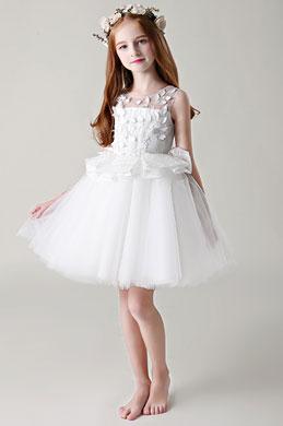 eDressit Princess White Sleeveless Wedding Flower Girl Dress (28198507)
