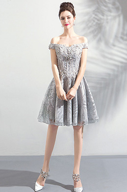 fd17b7708a eDressit Off Shoulder Grey Embroidery Party Cocktail Dress (35196308)