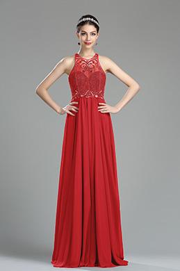 eDressit Robe de Soirée Rouge Licou Avec Des Perles (36181102)