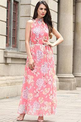 eDressit Sleevless Printed Dress Summer Holiday Dress (36192068)