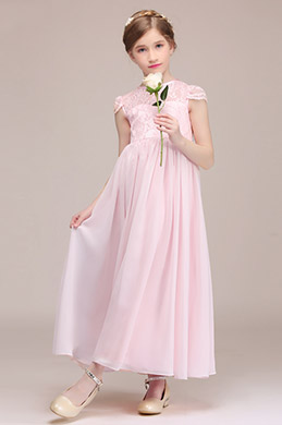 eDressit Pink Short Sleeves Flower Girl Dress (27194201)