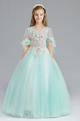 eDressit Flora Long Handmande Princess Party Girl Dress (27200604)