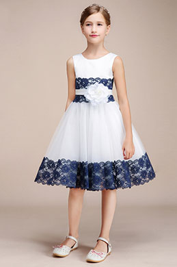 eDressit White Classic Princess Wedding Flower Girl Dress (28193407)