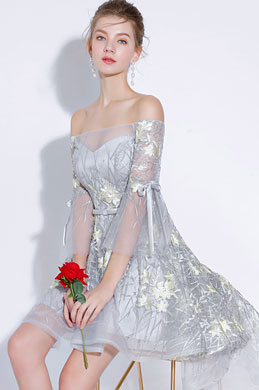eDressit Chic Off Shoulder Floral LaceTulle Cocktail Dress (35197608)