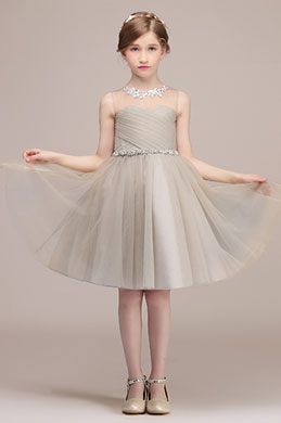 eDressit Light Grey Lovely Princess Wedding Flower Girl Dress (28191808)
