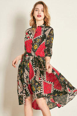 eDressit Classic Silk 1/2 Sleeves Printed Tunic Dress (30191368)