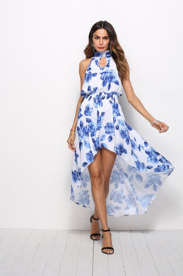 eDressit Halter Printed Summer Dress Holiday Dress (36214868)