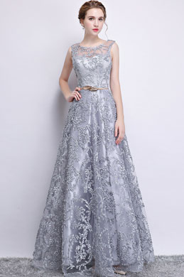 f836e299884 eDressit Grey Sleeveless Lace Applique Tulle Party Dress (36216108)
