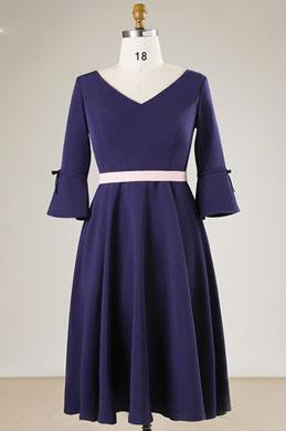 eDressit Navy Blue V-cut Mother of the Bridal Dress Plus Size Dress (31191605)