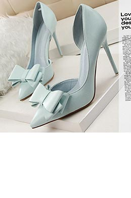 Women''s Elegant Leather Closed Toe High Heel Pumps Shoes (0919021)