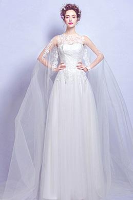 eDressit Robe de Mariée Blanche Longue Sexy En Tulle (36194707)