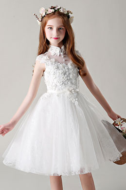 eDressit Lovely Lace Applique Flower Girl Dress (28198807)
