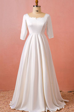 eDressit Elegant Short Sleeves Bridal Wedding Dress Plus Size Dress (31193107)