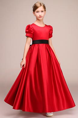 eDressit Round Neck Red Children Wedding Flower Girl Dress (27192102)