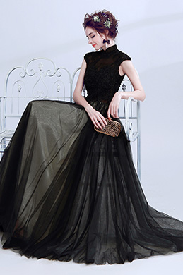 eDressit Black Top Beadings Evening Prom Ball Gown (36207100)